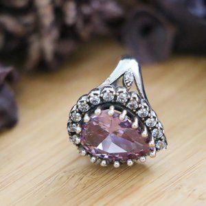 925 Sterling Silver, Purple Cubic Zirconia Stones